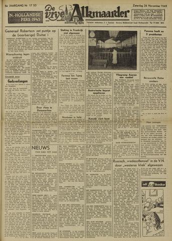 De Vrije Alkmaarder 1949-11-26