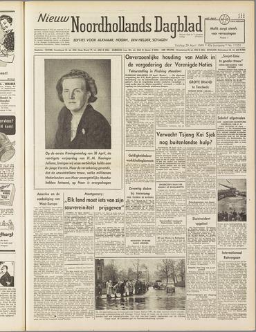 Nieuw Noordhollandsch Dagblad : voor Alkmaar en omgeving 1949-04-29