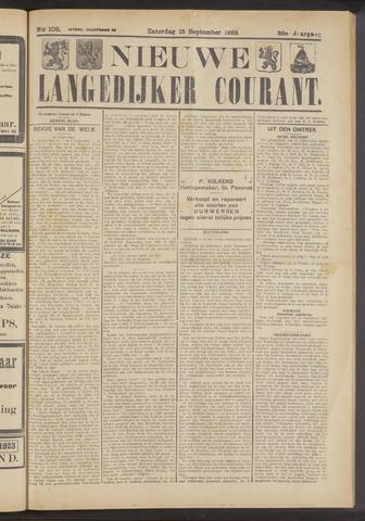 Nieuwe Langedijker Courant 1923-09-15