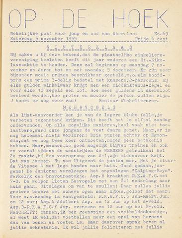 Op De Hoek, weekblad voor Akersloot 1955-11-05