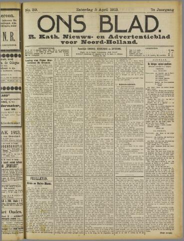 Ons Blad : katholiek nieuwsblad voor N-H 1913-04-05