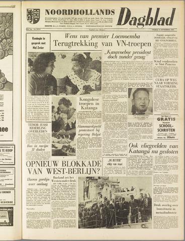 Noordhollands Dagblad : dagblad voor Alkmaar en omgeving 1960-09-09