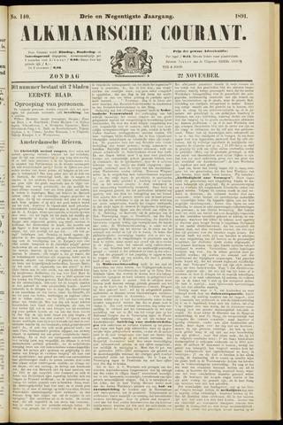 Alkmaarsche Courant 1891-11-22