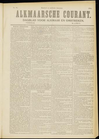 Alkmaarsche Courant 1914-04-24