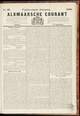 Alkmaarsche Courant 1863-09-13