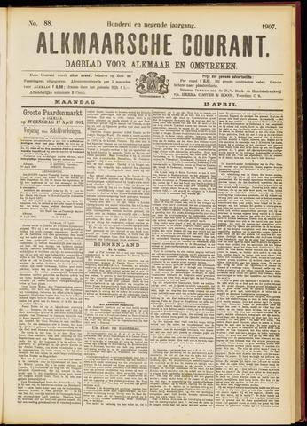 Alkmaarsche Courant 1907-04-15