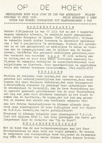 Op De Hoek, weekblad voor Akersloot 1964-07-10