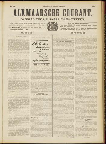 Alkmaarsche Courant 1909-02-22