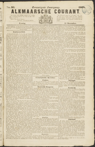 Alkmaarsche Courant 1868-12-13