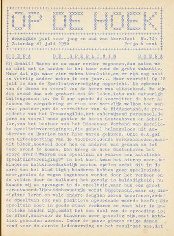 Op De Hoek, weekblad voor Akersloot 1956-07-21