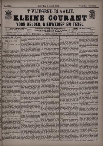 Vliegend blaadje : nieuws- en advertentiebode voor Den Helder 1884-03-08