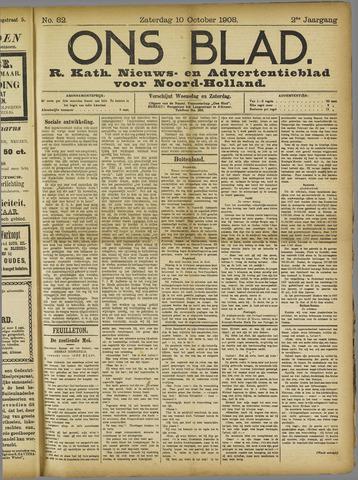 Ons Blad : katholiek nieuwsblad voor N-H 1908-10-10