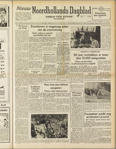 Nieuw Noordhollandsch Dagblad : voor Alkmaar en omgeving 1952-07-11