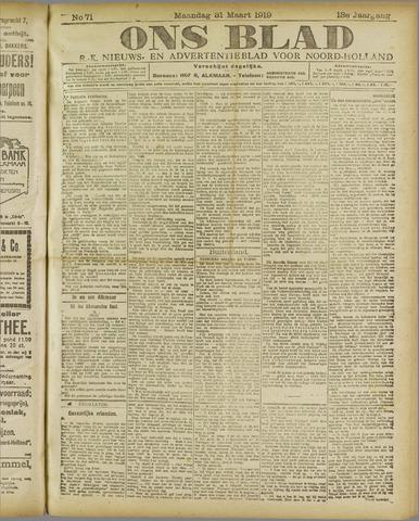 Ons Blad : katholiek nieuwsblad voor N-H 1919-03-31