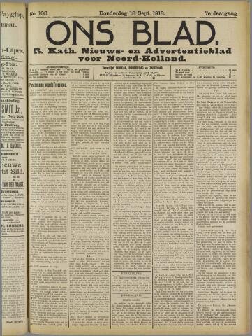 Ons Blad : katholiek nieuwsblad voor N-H 1913-09-18