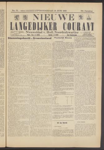 Nieuwe Langedijker Courant 1930-06-26