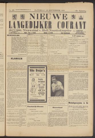 Nieuwe Langedijker Courant 1933-09-23