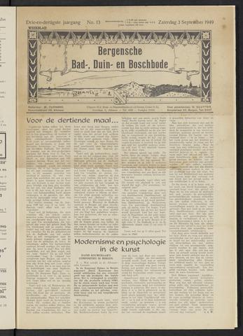 Bergensche bad-, duin- en boschbode 1949-09-03