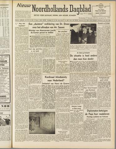 Nieuw Noordhollandsch Dagblad : voor Alkmaar en omgeving 1949-02-17