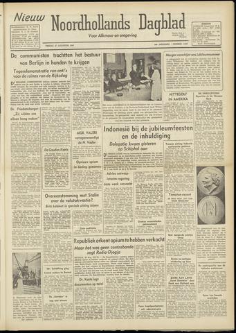 Nieuw Noordhollandsch Dagblad : voor Alkmaar en omgeving 1948-08-27