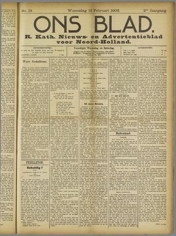 Ons Blad : katholiek nieuwsblad voor N-H 1908-02-12