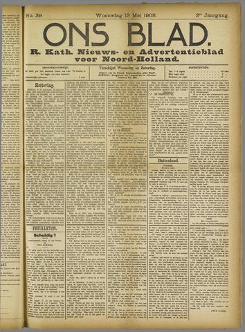 Ons Blad : katholiek nieuwsblad voor N-H 1908-05-13