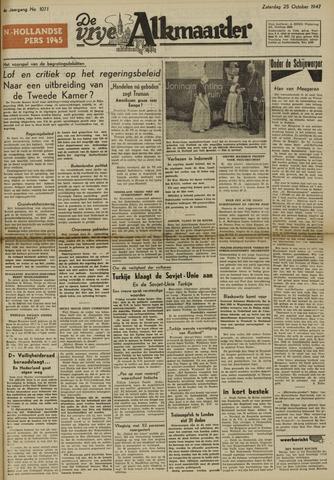 De Vrije Alkmaarder 1947-10-25