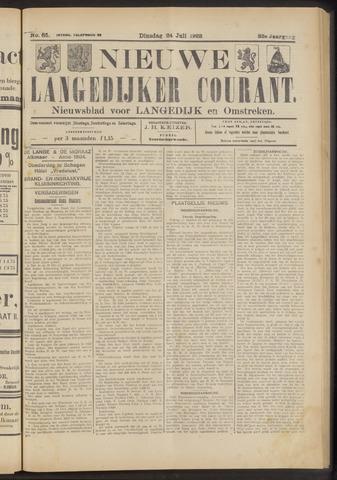 Nieuwe Langedijker Courant 1923-07-24