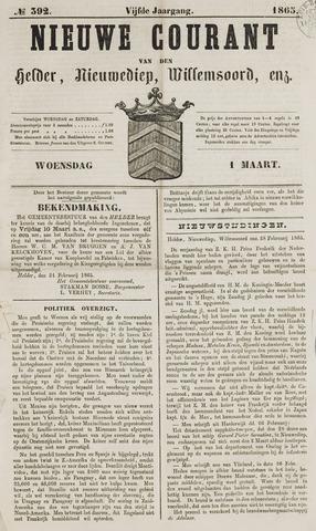 Nieuwe Courant van Den Helder 1865-03-01