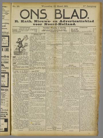 Ons Blad : katholiek nieuwsblad voor N-H 1911-03-22