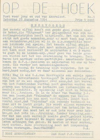 Op De Hoek, weekblad voor Akersloot 1954-08-28