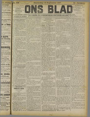 Ons Blad : katholiek nieuwsblad voor N-H 1917-09-13