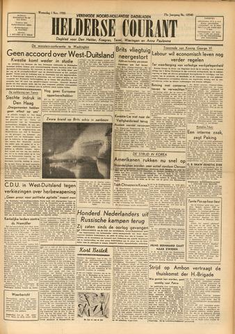 Heldersche Courant 1950-11-01
