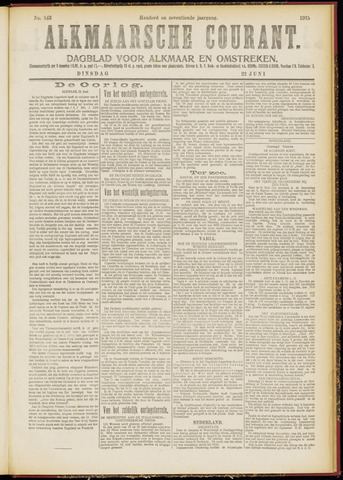 Alkmaarsche Courant 1915-06-22
