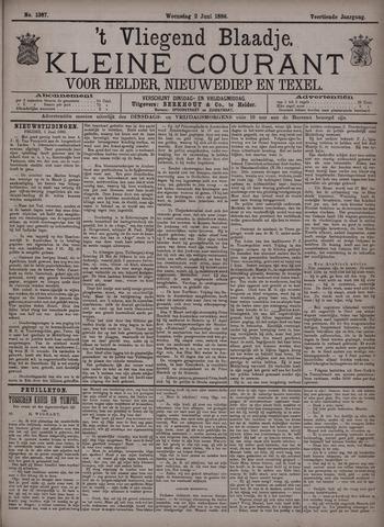 Vliegend blaadje : nieuws- en advertentiebode voor Den Helder 1886-06-02