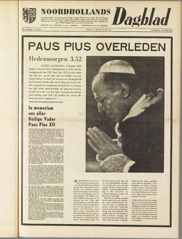 Noordhollands Dagblad : dagblad voor Alkmaar en omgeving 1958-10-09