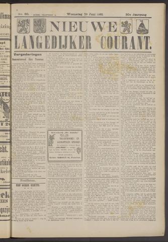 Nieuwe Langedijker Courant 1921-06-22