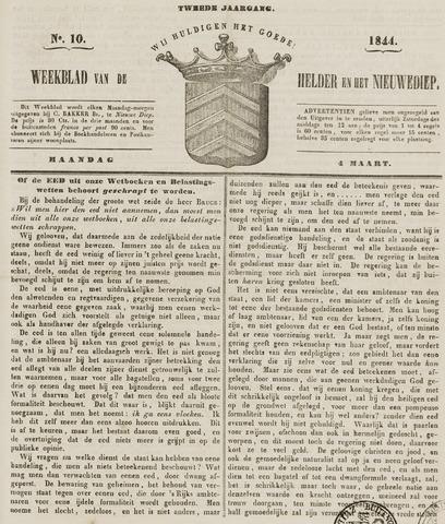 Weekblad van Den Helder en het Nieuwediep 1844-03-04