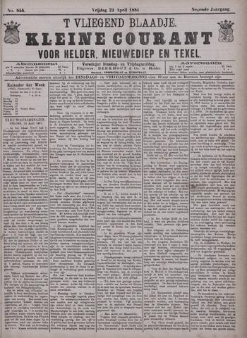 Vliegend blaadje : nieuws- en advertentiebode voor Den Helder 1881-04-22