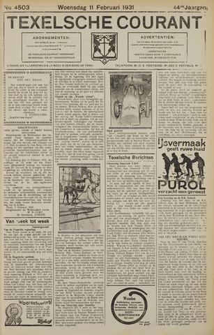 Texelsche Courant 1931-02-11