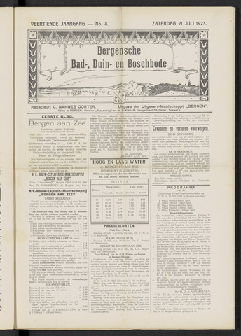 Bergensche bad-, duin- en boschbode 1923-07-21
