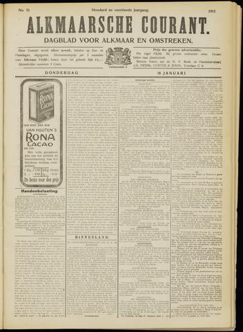 Alkmaarsche Courant 1912-01-18