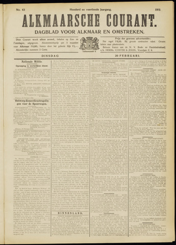 Alkmaarsche Courant 1912-02-20