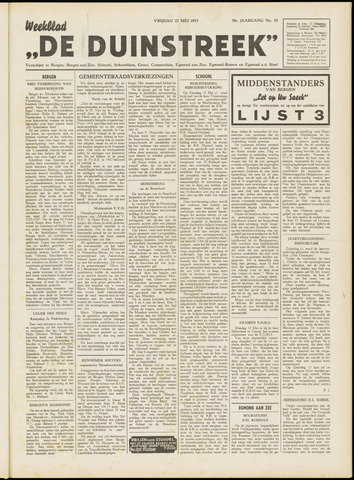 De Duinstreek 1953-05-22