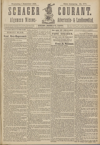 Schager Courant 1920-12-01
