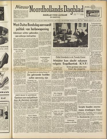 Nieuw Noordhollandsch Dagblad : voor Alkmaar en omgeving 1952-02-09