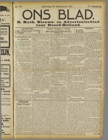Ons Blad : katholiek nieuwsblad voor N-H 1911-09-30