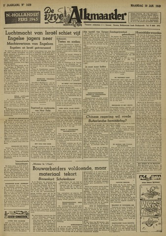 De Vrije Alkmaarder 1949-01-10