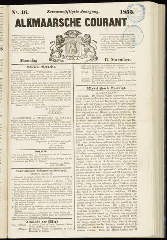 Alkmaarsche Courant 1855-11-12
