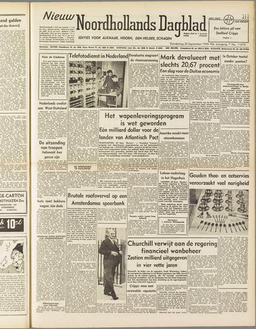 Nieuw Noordhollandsch Dagblad : voor Alkmaar en omgeving 1949-09-29